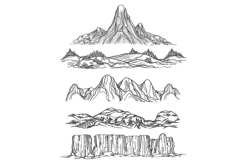 hand-drawn-mountains-and-hills