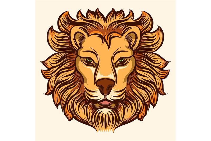 lion-head-vector-illustration