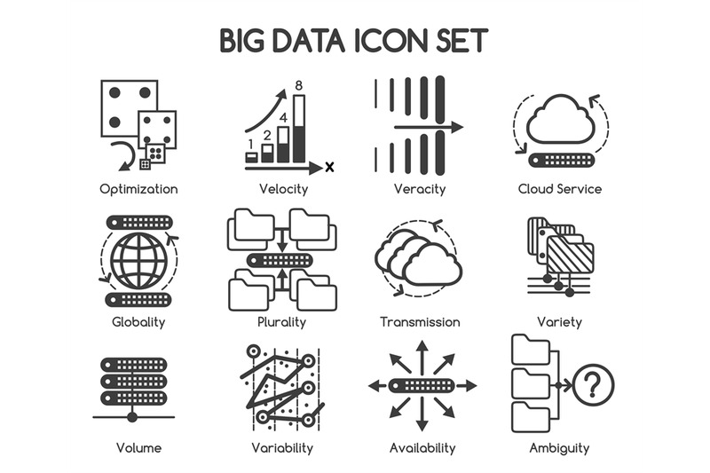 big-data-vector-icons