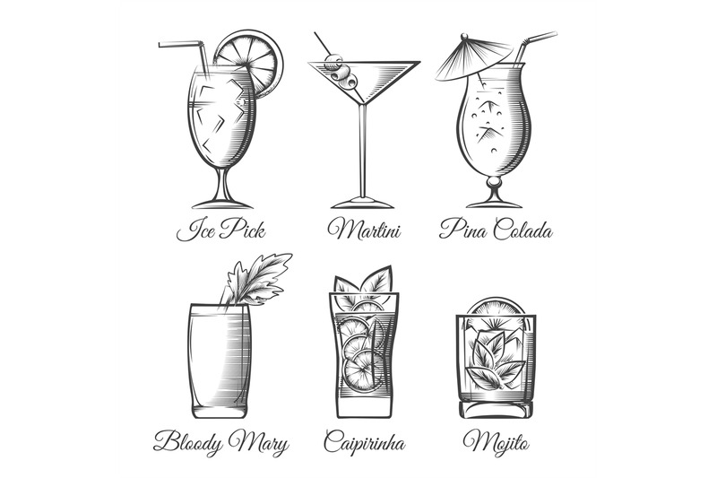 engraving-cocktails-vector
