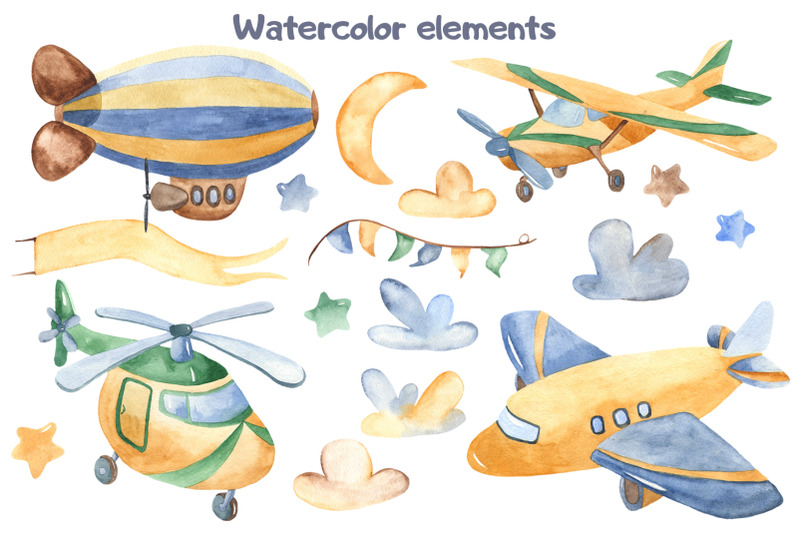 air-transport-childrens-watercolor-set