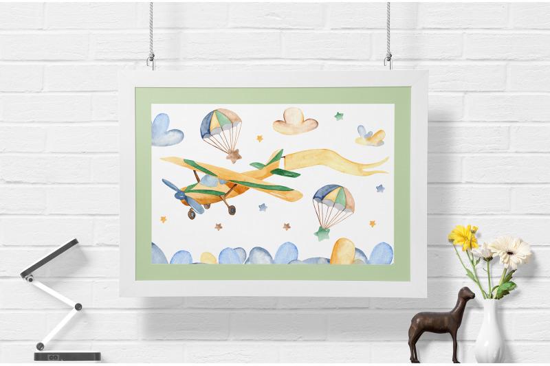 air-transport-children-039-s-watercolor-set