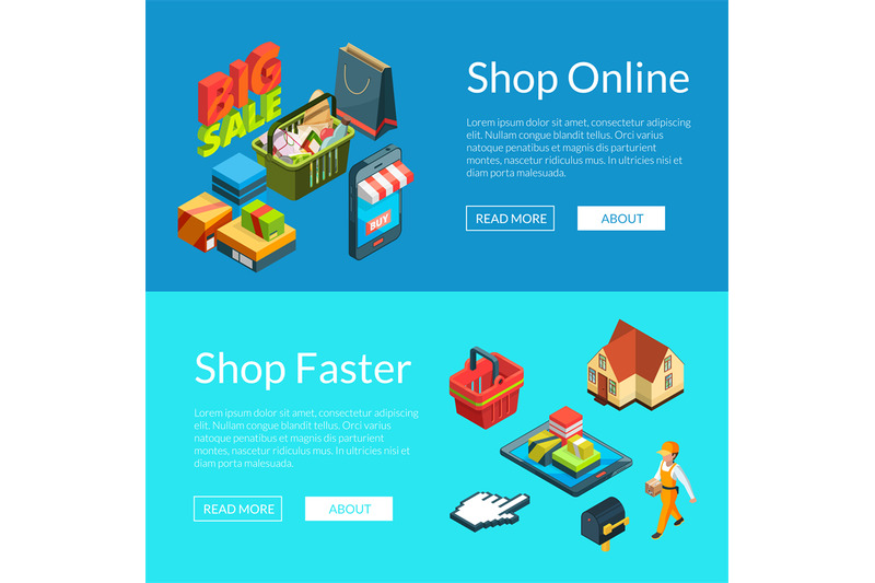 e-shopping-banners-vector-isometric-online-shopping-icons-illustratio