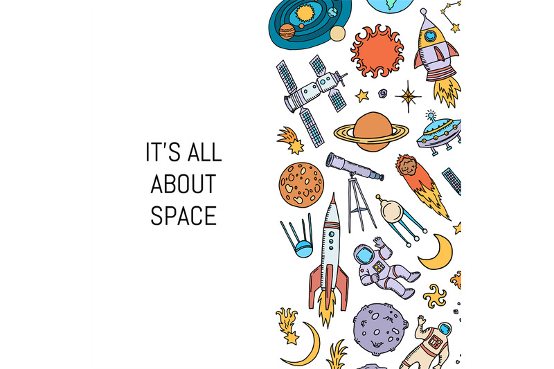 vector-hand-drawn-space-elements-background-with-place-for-text-illust
