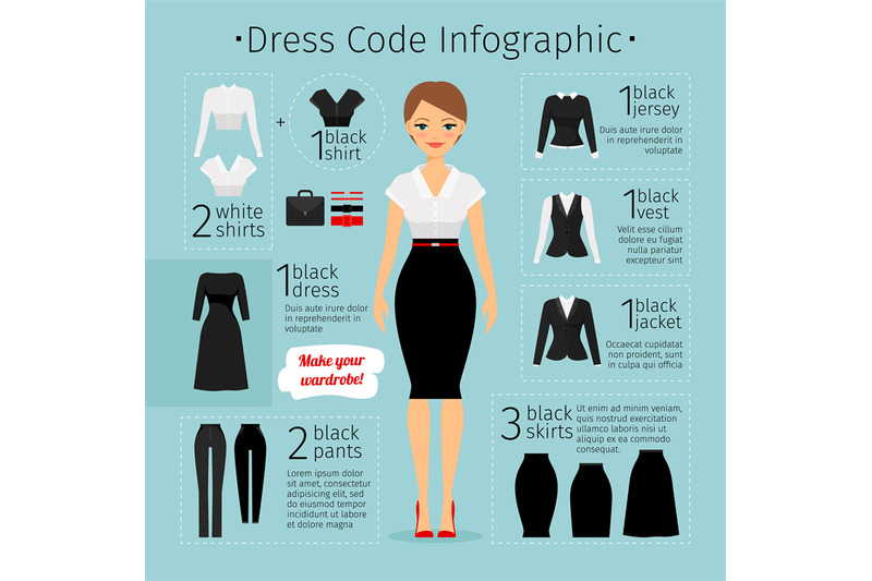 business-woman-clothes-infographics