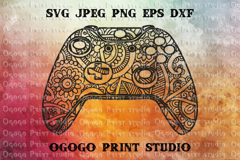 xbox-controller-svg-zentangle-svg-gamer-svg-mandala-svg
