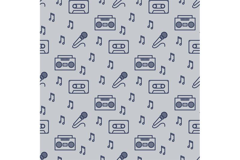 retro-musician-seamless-pattern-design