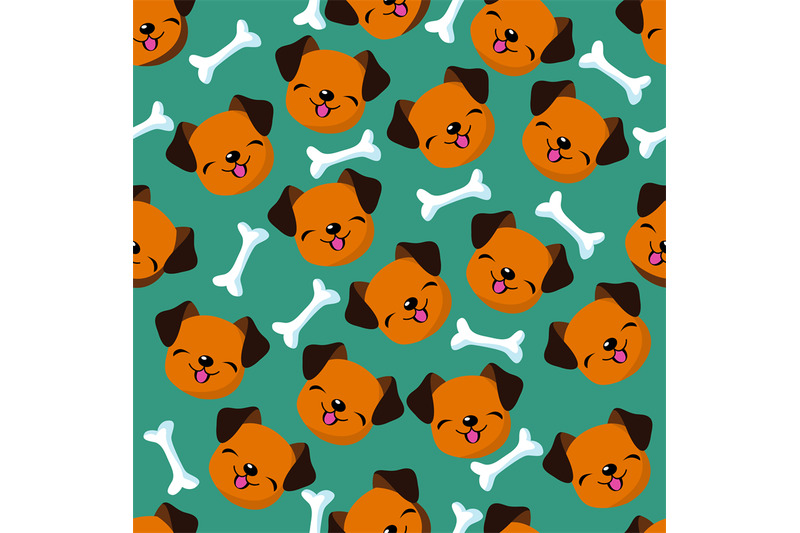 happy-dog-face-seamless-vector-pattern