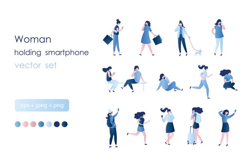 set-of-girls-with-smartphones