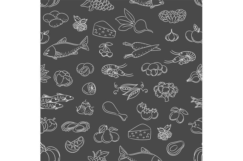 food-hand-drawn-icons-seamless-pattern