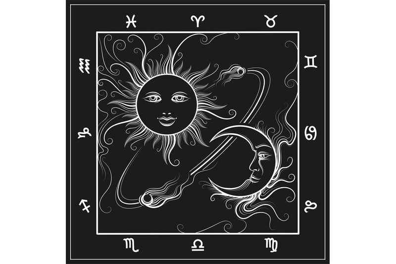 astrology-map-with-moon-and-sun