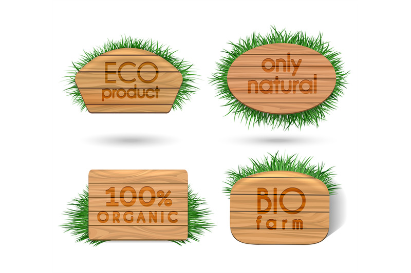 wooden-eco-food-signs-with-grass