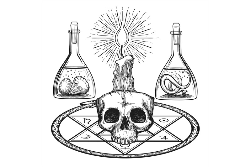 skull-with-candle-alchemy-elements