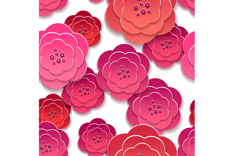 paper-rose-flowers-3d-pattern