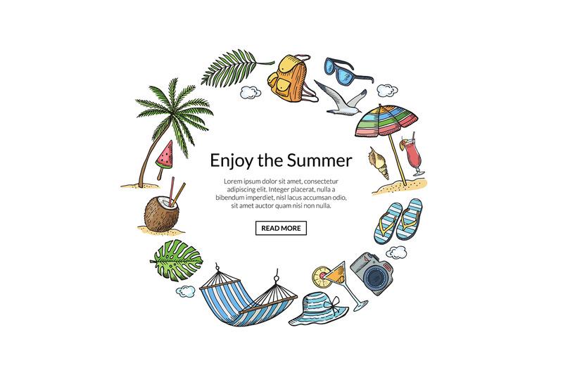 vector-hand-drawn-summer-travel-elements-illustration