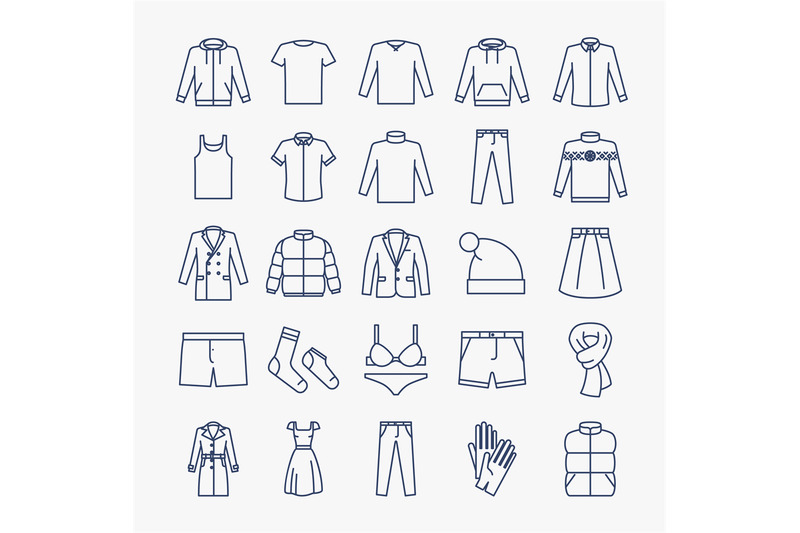clothes-linear-icons