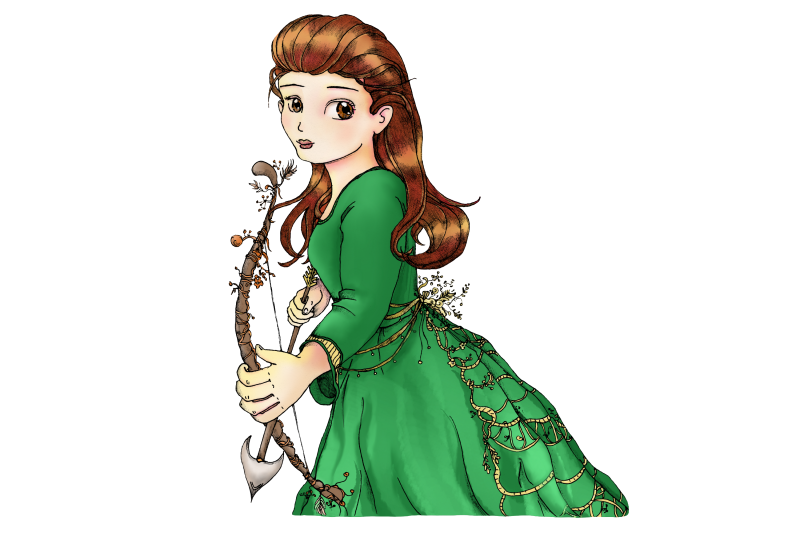 whimsical-forest-archery-princess-fantasy-clip-art-png-jpg