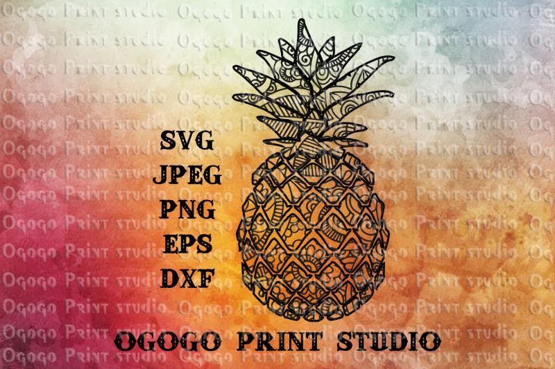 pineapple-svg-fruit-svg-zentangle-svg-mandala-svg-cricut