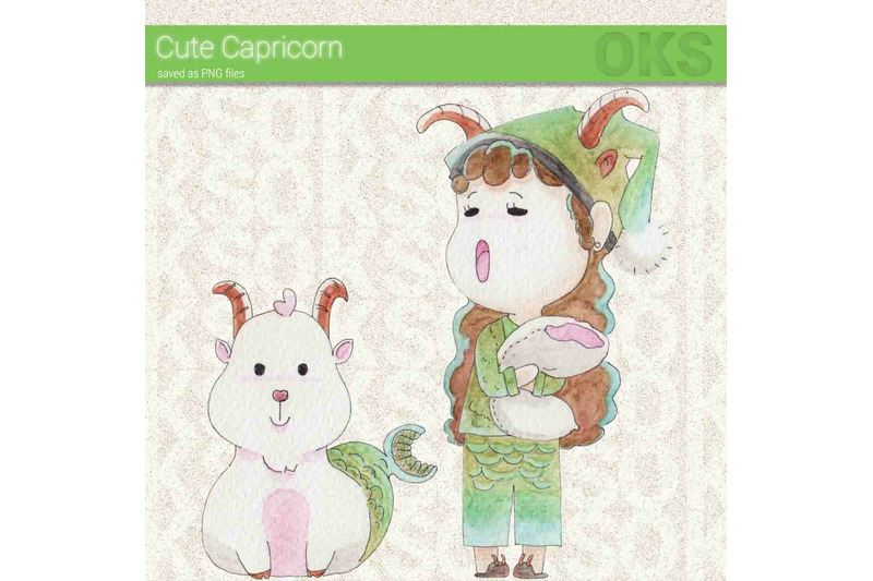 capricorn-watercolor-clipart-zodiac-sign-instant-download-png