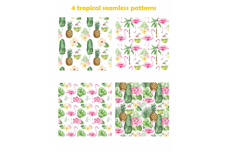 watercolor-tropical-set