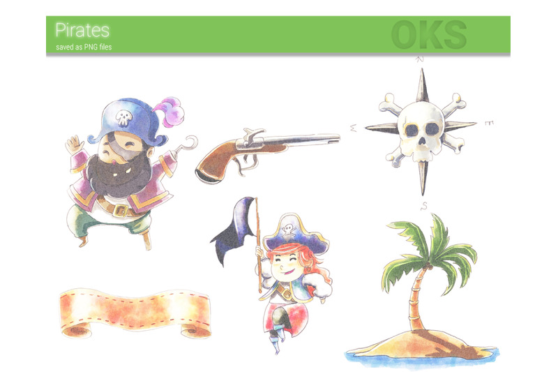 pirate-watercolor-clipart-instant-download-png