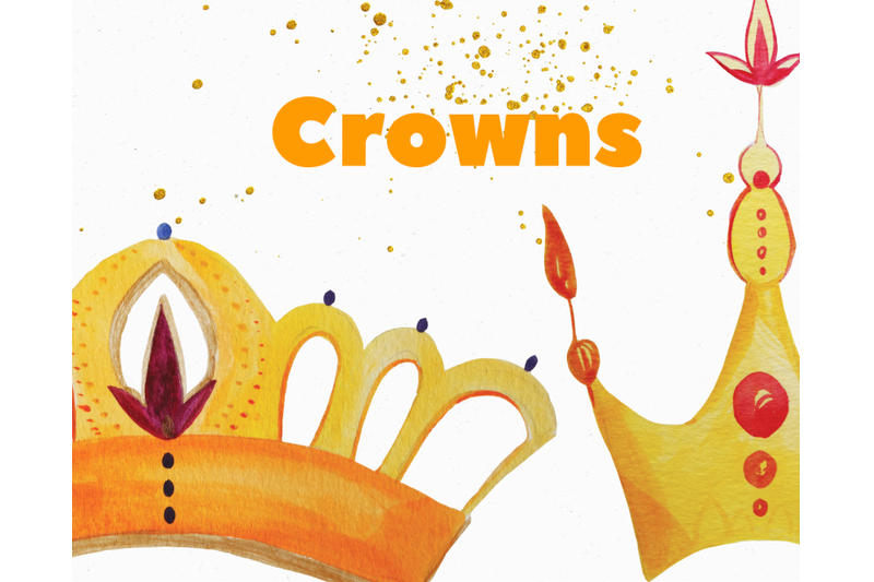 gold-crowns-watercolor-clip-art