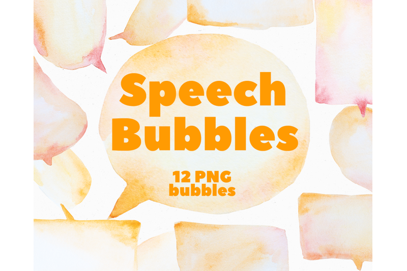 watercolor-speech-bubbles
