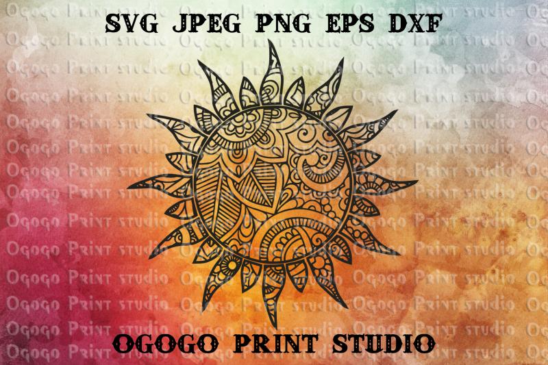 sun-svg-zentangle-svg-summer-svg-mandala-svg-cricut-file