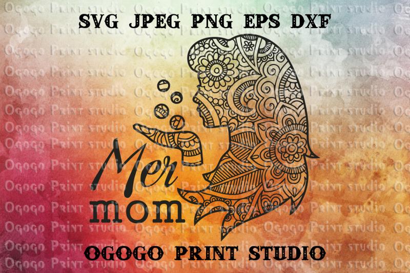 mermaid-svg-mom-svg-mandala-svg-zentangle-svg-cricut