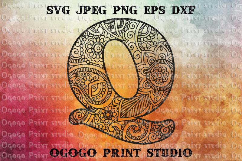 alphabet-letter-svg-initial-svg-zentangle-svg-mandala-svg