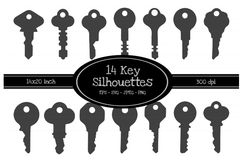 14-key-silhouette-illustrations-eps-svg-jpeg-png