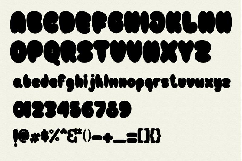 bulb-layered-font