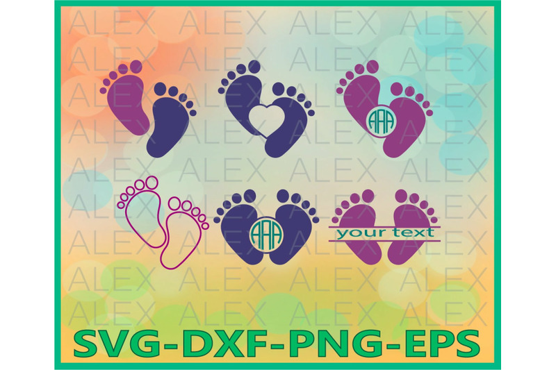 baby-feet-baby-monogram-cut-files