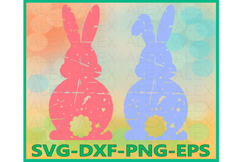easter-bunny-grunge-cut-files