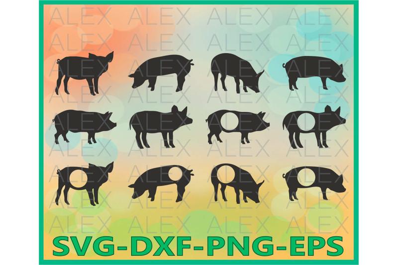 pig-silhouette-pig-monogram