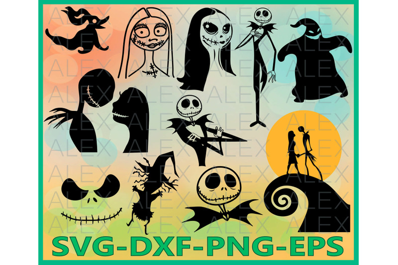 nightmare-before-christmas-halloween-jack-and-sally-clipart