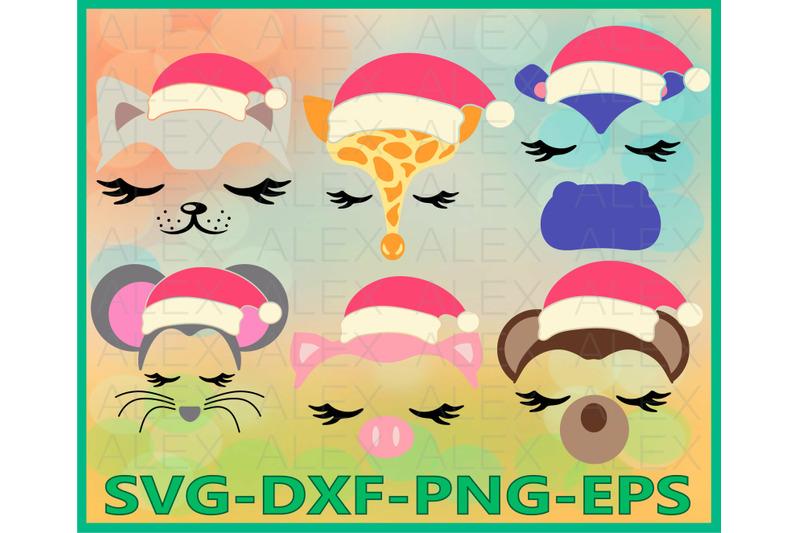 animal-christmas-animal-face-girls-face-eyelashes