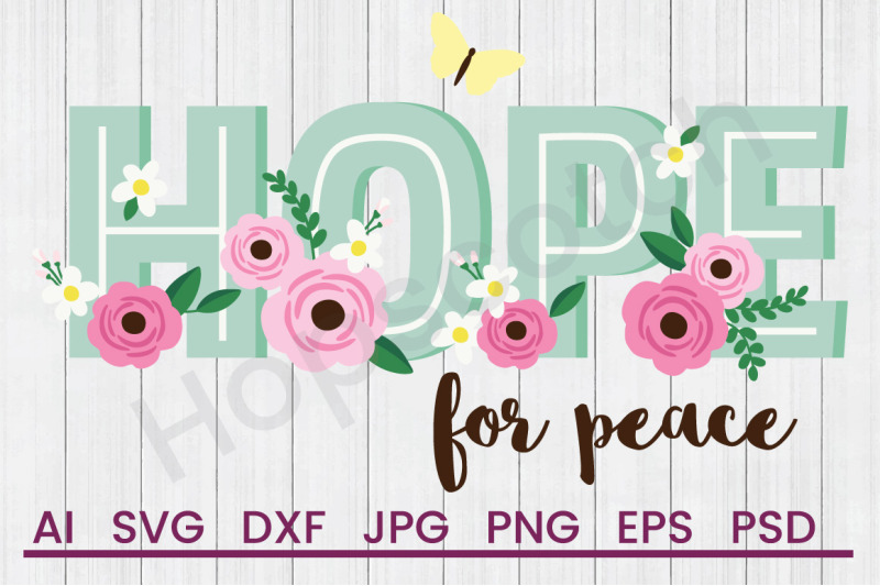 hope-for-peace-svg-file-dxf-file