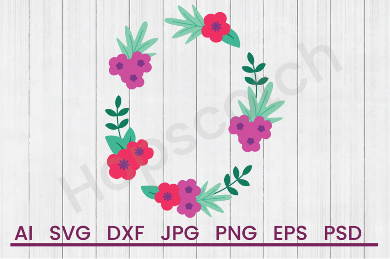 floral-wreath-svg-file-dxf-file