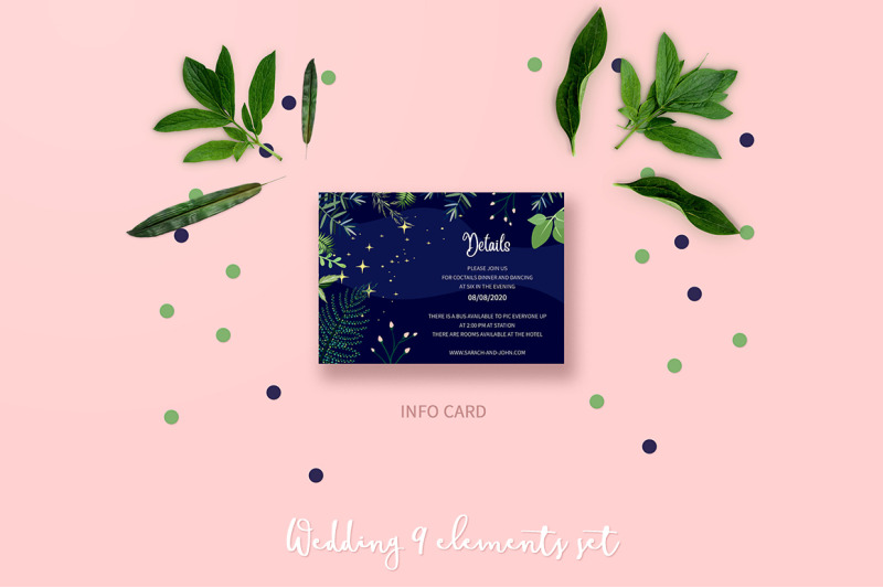 romantic-night-wedding-invitation-set