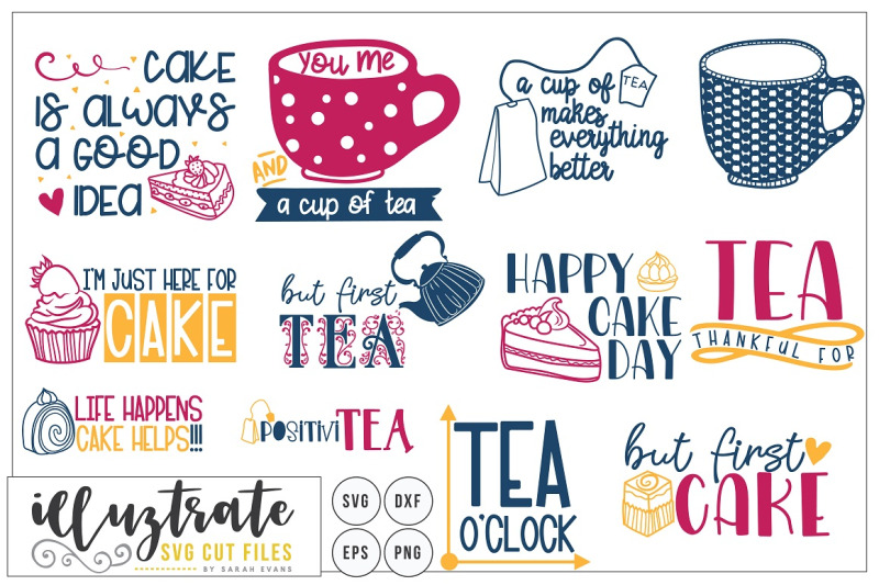 tea-and-cake-quotes-bundle-svg-cut-files-dxf-cutting-files
