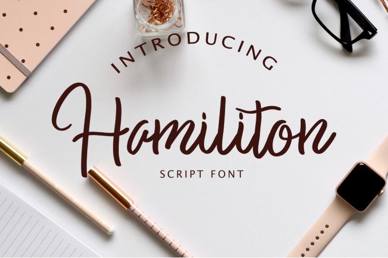 hamiliton-script-font