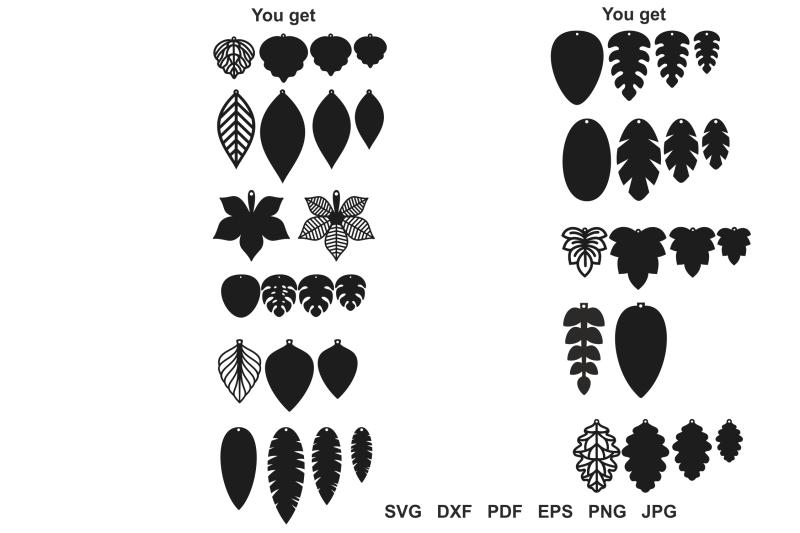 Leaf Earrings Svg Teardrop Earrings Earrings Template Tear Drop