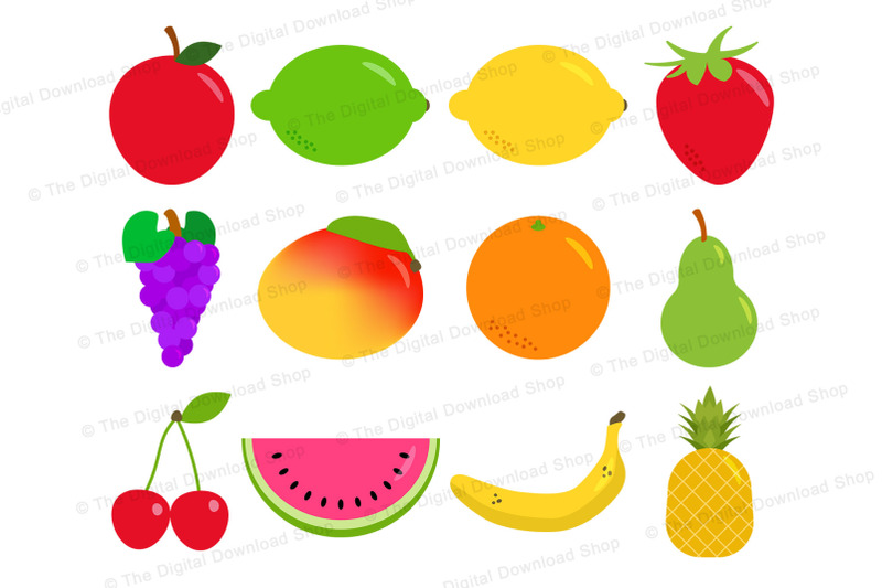 fruit-clipart-fruit-graphics-healthy-foods-clipart-pineapple-lemon