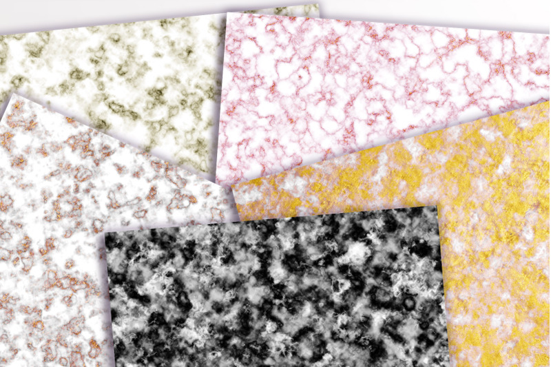 Marble Digital Papers Colored Marble Patterns Marble Scrapbook