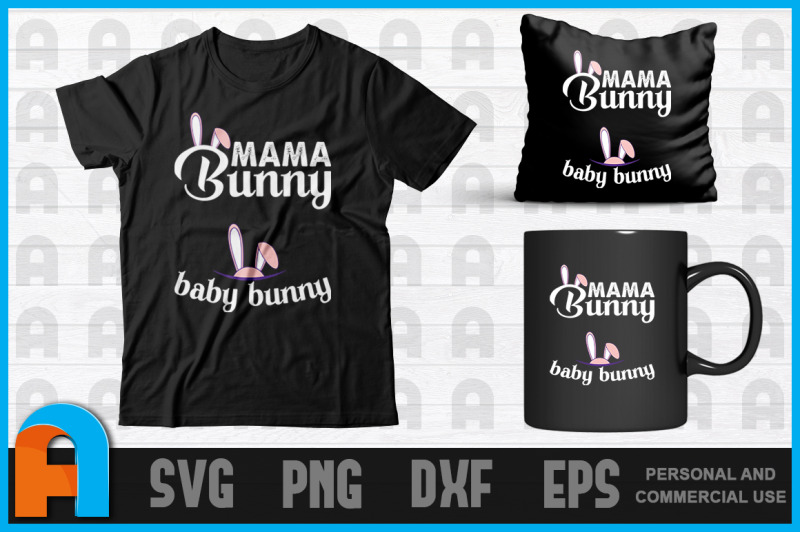 Mama Bunny Cute Easter Pregnancy Announcement T Shirt Design