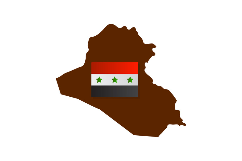 iraq-map-with-flag