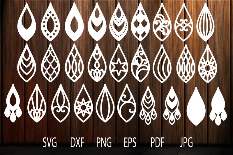 earrings-svg-teardrop-earrings-earrings-template-tear-drop-svg-tea