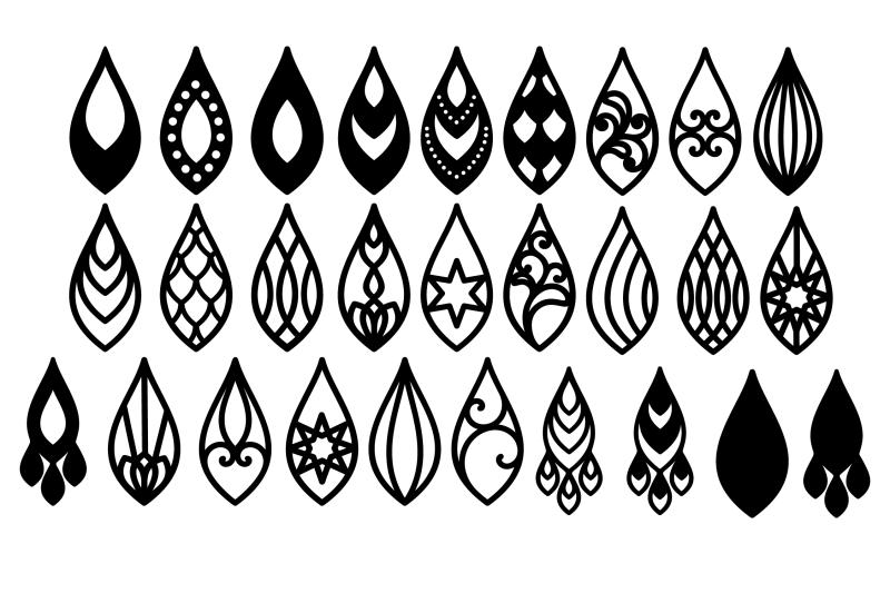 Earrings Svg Teardrop Earrings Earrings Template Tear Drop Svg