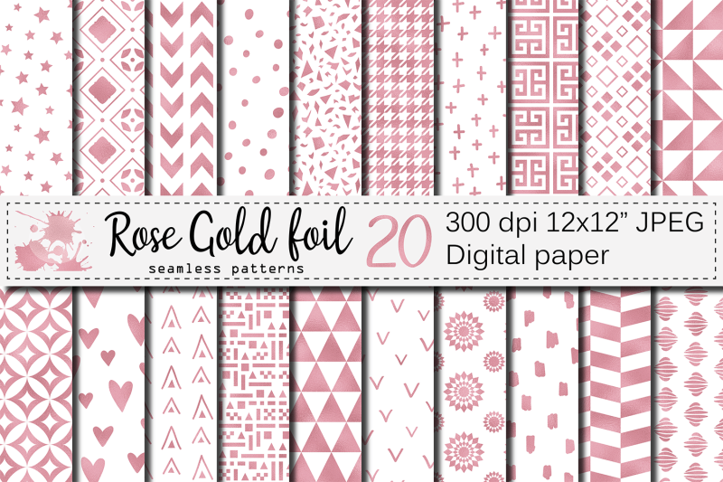 rose-gold-foil-seamless-geometric-patterns-rose-gold-digital-papers